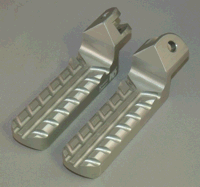 1-3/8 inch Lowered Foot Pegs, Silver Anodized, Sidetrax Tread